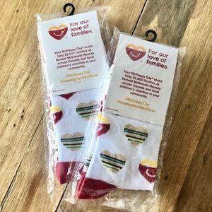 Two Pairs McDonald's McHappy Adult Socks BRAND NEW